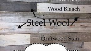 DIY Wood Pallet Wall - How to make new wood look weathered, distressed with diff...