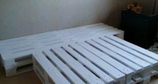 Pallet Bed Made Out Of Repurposed Wooden Pallets