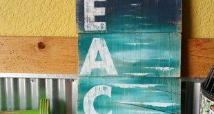 Plage d'art palette, palette plage wall Art, décor nautique, peint à la main signe le seascape BEACH, Cottage, Wall art, Distressed, Shabby Chic