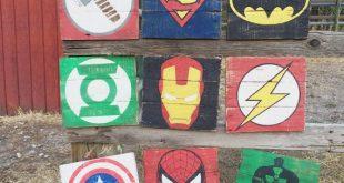 "Superhero Sign 11""- Superhero Wall Art- Boys Bedroom Decor- Neutral Nursery Decor- Superhero Nursery- Kids Bedroom Decor- superhero decor"