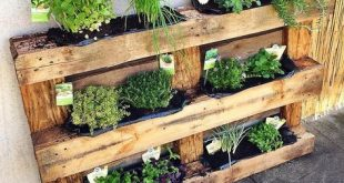 Wooden pallets recycled planters