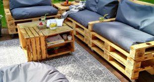ᐅ Gartenmöbel aus Paletten - Europaletten Möbel