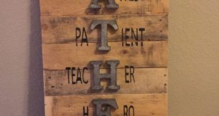 Mothers Day Gifts 2019 - Father Sign, Father's Day Sign, Wall Sign, Pallet Sign, Holiday Sign, Reclai
