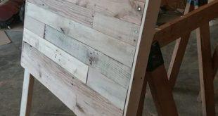 Twin Size Pallet Wood Headboard