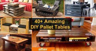 40+ Amazing DIY Pallet Tables