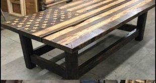 American flag pallet coffee table - #American #Coffee #coffeetable #flag #Pallet...
