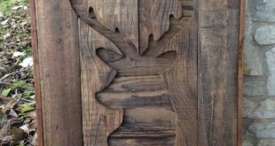 Deer Hunting Gift, wooden Deer wall art, deer head, rustic fauxidermy, wood stag, woodsy, cabin decor, Lodge decor