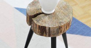 Möbel selbst machen: Beistelltisch aus Holzscheibe bauen