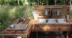 Outdoor Holz Paletten Küche Ideen