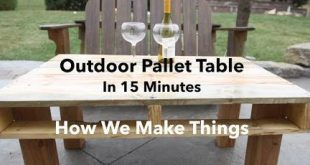 Outdoor Pallet Table in 15 Minutes