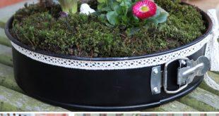 Upcycling: Backform bepflanzen