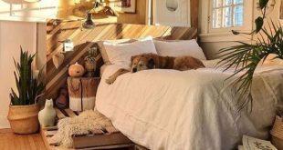 20 rustikale Schlafzimmerideen für kreative Menschen #Schlafzimmer #Kreativ #Ideen #Personen ...