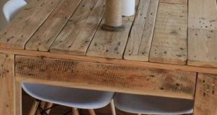 29 Easy Crate Style Table ideas to complement your rustic decor Pallet Table Ide...