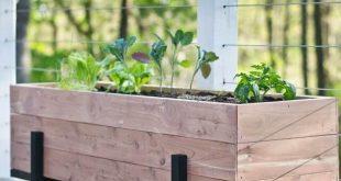 32 DIY Paletten und Holz Pflanzer Box Ideen für Ihren Garten #balkon #palettenm