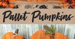 DIY Pallet Pumpkin Trio