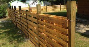 DIY pallet fencing project