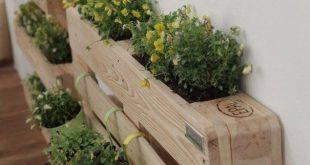 Diese Holzpaletten-Pflanzgefäße werden aus den frischesten Holzpaletten hergestellt, die … #WoodWorking