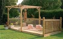 Easy To Build Pallet Decks - love the floating deck in the yard idea