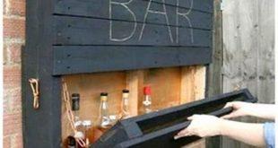 Elegant Wood Pallet Bar Shelve #WoodWorking