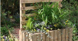 Garten DIY: Upcycled Palettenkübel & Sichtschutz