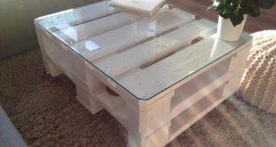 Größter Wunsch ❤ Ein Tisch aus Euro Paletten. Schick und lockert viele Räu...