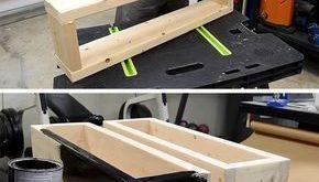 Hier ist ein DIY, das Ihnen zeigt, wie Sie eine preiswerte, moderne … #WoodWorking