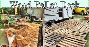 Homemade Salvaged Wood Pallet Deck Homesteading - The Homestead Survival .Com