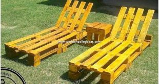 If you have been thinking about placing a creative wood pallet sun lounger in yo