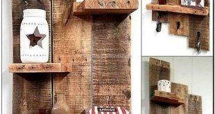 Kopieren Sie diese Holzpalettenregalidee, da Sie sie auf viele Arten nutzen kön...