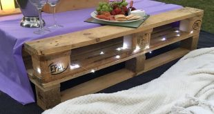 Outdoor Wood Pallet Table Decor Ideas