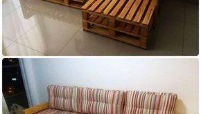 Paletten-L-Form-Couch-Rahmen - 20 Paletten-Ideen, die Sie für Ihr Zuhause selbs...