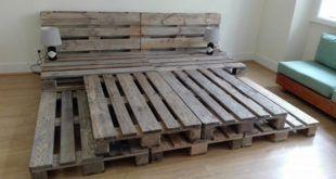 Paletten-Plattformbett – 150+ wunderbare Palettenmöbel-Ideen