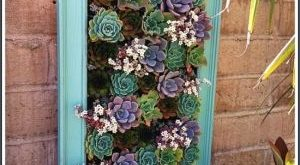 Pallet Planter Succulent Wall | andi ogden Succulent planter made of cinderblock...