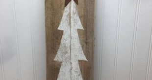 Rustikale Baum Tür Zeichen - Weihnachtsbaum Planke - rustikale Palette Wandkunst - Haustür Schild - Bauernhaus Dekor - rustikale Weihnachten - 42 x 11