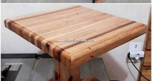 Schauen Sie sich diese großartige Kreation des Wood Pallet Table-Projekts an di...