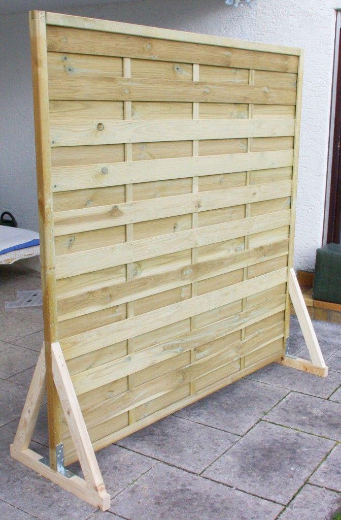 sichtschutz paravent garten balkon selber bauen anleitung diy fertig ohne farbe pallet diy