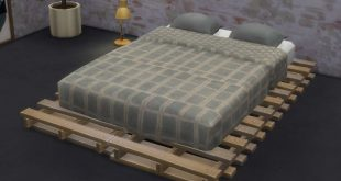 Sims 4 CC's - The Best: Pallet Bed Frame and Mattress by Gatochwegchristel.....