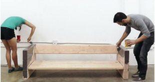 So bauen Sie ein rustikales Außensofa auf einfache Art und Weise