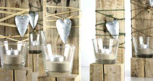 Teelichtdekoration Palettenholz, #Palettenholz #Teelichtdekoration