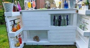 Unique Ideas for Used Wood Pallet Reusing - Pallet outdoor bar
