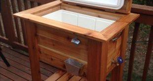 Upcycled Pallet Wood Igloo Cooler Stand- 12 DIY Holzpalettenkühler Design