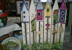 picket fence birdhouses | Picket Fences creativecottageon...